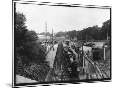 St Austell Station, Cornwall--Mounted Photographic Print