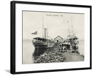 The Pier at Entebbe, Uganda - Lake Victoria--Framed Photographic Print
