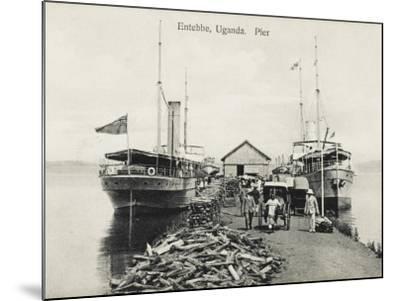 The Pier at Entebbe, Uganda - Lake Victoria--Mounted Photographic Print
