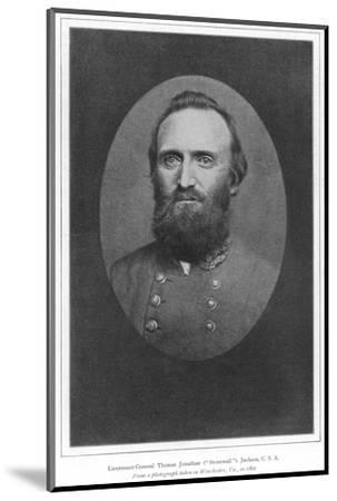 Stonewall Jackson Photo--Mounted Photographic Print