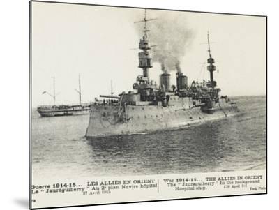The French Warship Jaureguiberry - Dardanelles--Mounted Photographic Print