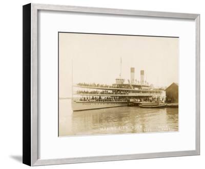 The US Mail Steamer Tashmoo, St. Clair River, Michigan, America--Framed Photographic Print