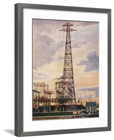 Part of Britain's National Grid This is the Sub-Station at Yoker Near Glasgow Scotland--Framed Photographic Print