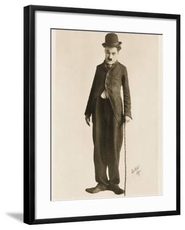 The Movie Legend Charlie Chaplin in Classic Pose--Framed Photographic Print