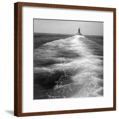 The French Naval Ship 'Dunkerque'-Robert Hunt-Framed Photographic Print