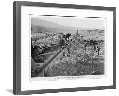 The Discovery Claim at Anvil Creek, Nome, Alaska, During the Gold Rush--Framed Photographic Print