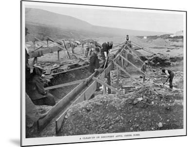 The Discovery Claim at Anvil Creek, Nome, Alaska, During the Gold Rush--Mounted Photographic Print