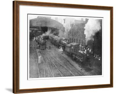 William Mckinley the Assassinated Presidents Funeral Train Leaving Buffalo--Framed Photographic Print