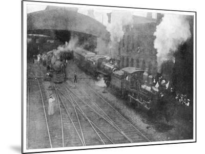 William Mckinley the Assassinated Presidents Funeral Train Leaving Buffalo--Mounted Photographic Print