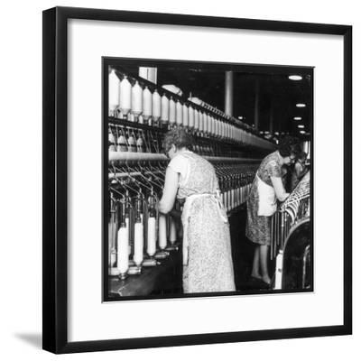 Women Working in a Cotton Mill-Henry Grant-Framed Photographic Print