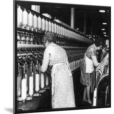 Women Working in a Cotton Mill-Henry Grant-Mounted Photographic Print