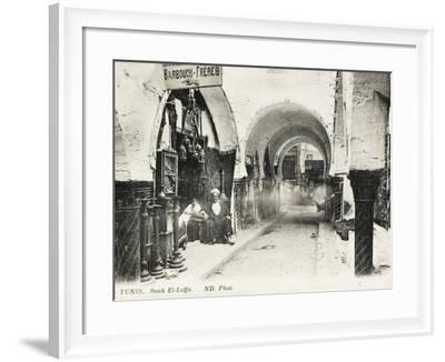 Tunis, Tunisia - Souk El-Leffa--Framed Photographic Print