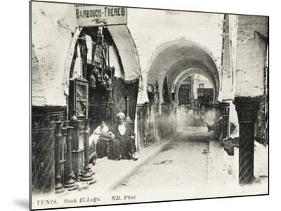 Tunis, Tunisia - Souk El-Leffa--Mounted Photographic Print