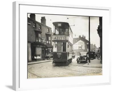 Tram in Birmingham--Framed Photographic Print