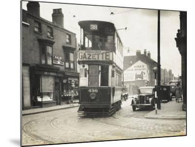 Tram in Birmingham--Mounted Photographic Print