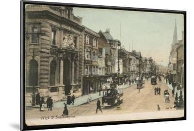 Southampton, Hampshire: the High Street--Mounted Photographic Print
