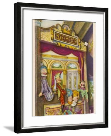 Tournai, Belgium Traditional Guignol De La Maison Tournaisienne (Puppet Theatre)--Framed Photographic Print