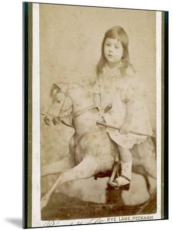 Eric James Age 3 Rides His Rocking Horse--Mounted Photographic Print