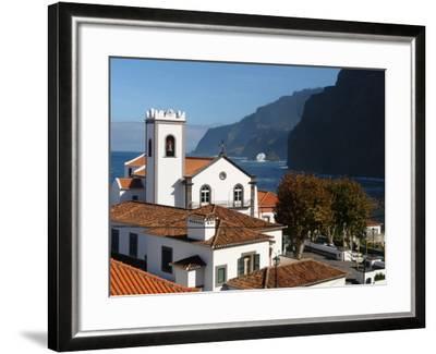 Village Church at Ponta Delgada, Madeira--Framed Photographic Print