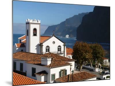 Village Church at Ponta Delgada, Madeira--Mounted Photographic Print