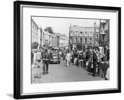 Browsing the Stalls at Portobello Road Market--Framed Photographic Print