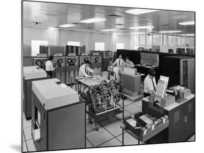 The Central Computer at Harwell--Mounted Photographic Print