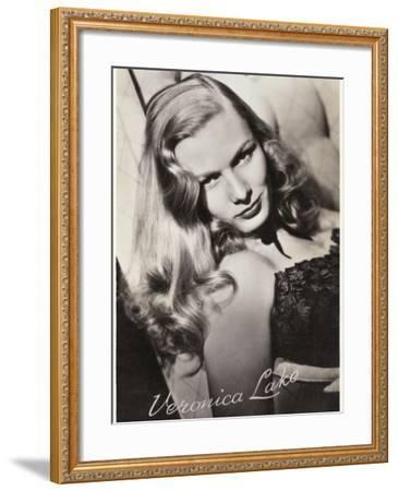 Veronica Lake (Constance Ockleman) American Film Actress--Framed Photographic Print