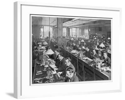 Telegraph Office 1900--Framed Photographic Print