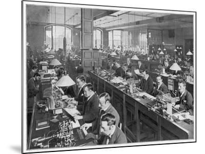 Telegraph Office 1900--Mounted Photographic Print