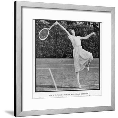 Suzanne Lenglen Taking a Shot--Framed Photographic Print