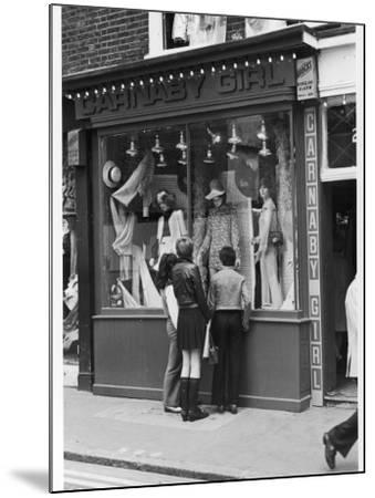 Carnaby Street Boutique--Mounted Photographic Print
