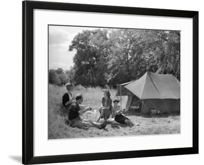 Camping/Tylers Causeway--Framed Photographic Print