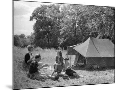 Camping/Tylers Causeway--Mounted Photographic Print