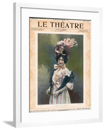 Cecile Thevenet Mezzo-Soprano, Seen Here in the Role of Musette in Leoncavallo's 'La Boheme'--Framed Photographic Print