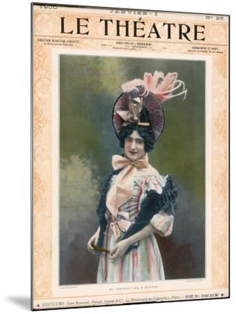 Cecile Thevenet Mezzo-Soprano, Seen Here in the Role of Musette in Leoncavallo's 'La Boheme'--Mounted Photographic Print