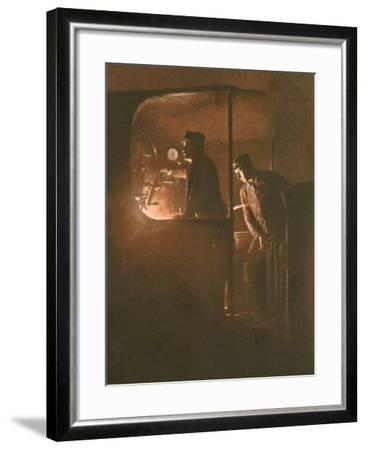 Engine Driver Photo--Framed Photographic Print