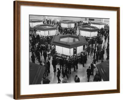 A Busy Scene at the London Stock Exchange--Framed Photographic Print