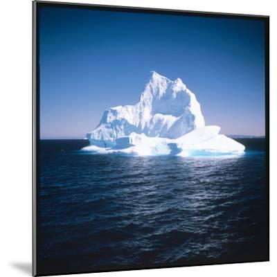 A Floating Iceberg in Disko Bay at Qeqertarsuaq (Godhavn), Greenland--Mounted Photographic Print