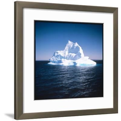 A Floating Iceberg in Disko Bay at Qeqertarsuaq (Godhavn), Greenland--Framed Photographic Print