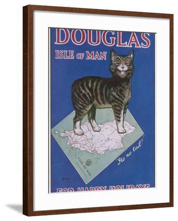 Douglas, Isle of Man: for Happy Holidays--Framed Photographic Print