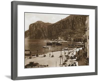 Grand Harbour/Marina - Island of Capri--Framed Photographic Print