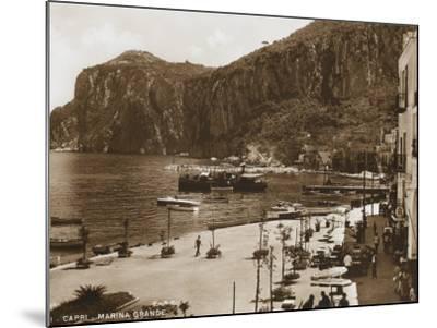 Grand Harbour/Marina - Island of Capri--Mounted Photographic Print