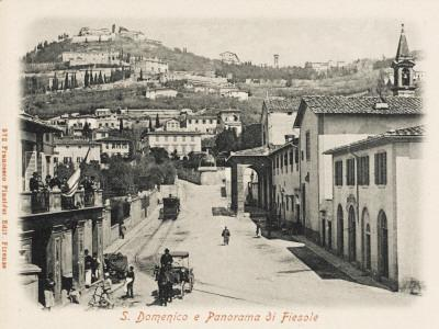 Firenze, Italy. S. Domenico Street and a View of Fiesole--Framed Photographic Print