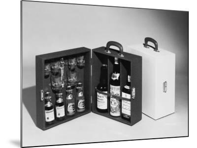 A Handy Case Containing Whisky, Martini and Gin, Mixers, a Bottle Opener and Glasses!--Mounted Photographic Print