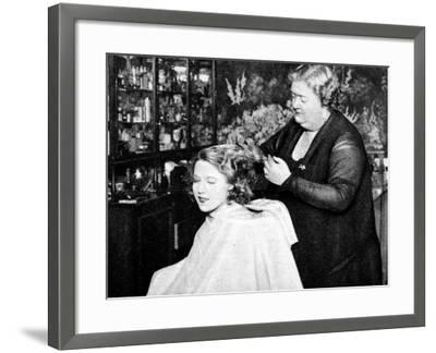 Hollywood Hair Dressing Salon, Miss Annie Ondra Having Her Hair Done--Framed Photographic Print