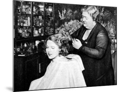 Hollywood Hair Dressing Salon, Miss Annie Ondra Having Her Hair Done--Mounted Photographic Print