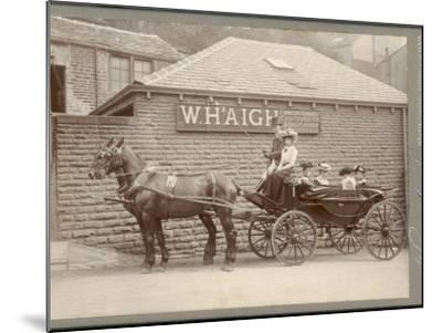 A Huddersfield Horse Cab--Mounted Photographic Print