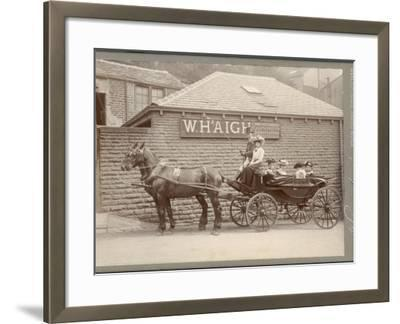 A Huddersfield Horse Cab--Framed Photographic Print