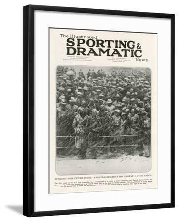 A Blizzard at Halifax Football Ground, 1933--Framed Photographic Print