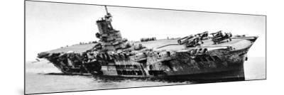 HMS 'Ark Royal' Listing to Starboard, Second World War, 1941--Mounted Photographic Print